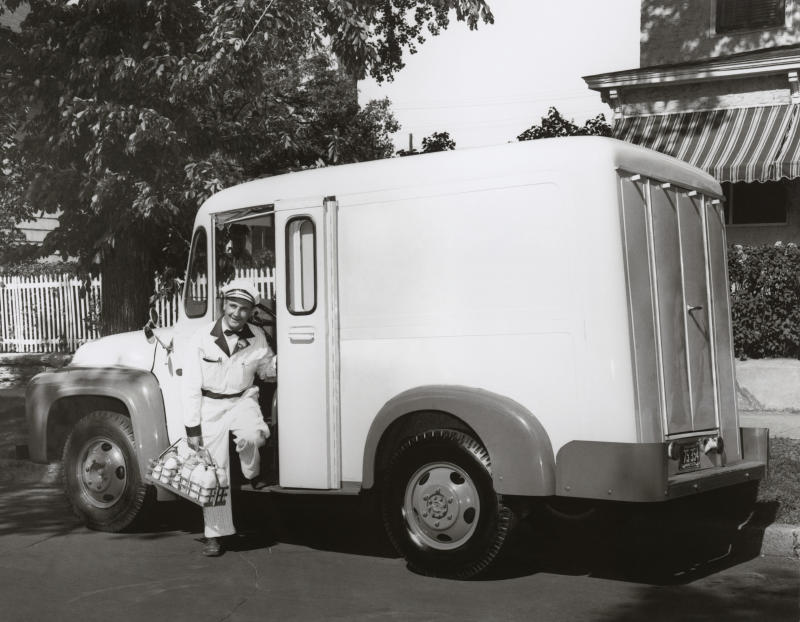 Milk delivery services are in high demand during the coronavirus crisis. (Photo: Getty Images)