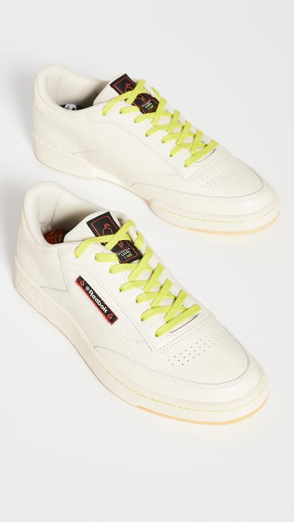<p>They'll consider these <span>Reebok x Hot Ones Club C 85 Sneakers</span> ($100) collectible items.</p>