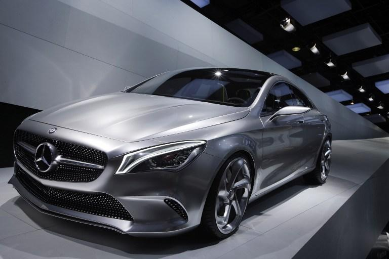 A Mercedes Concept style coupe is diplayed at the Porte de Versailles exhibition center in Paris. AFP Photo/ Joel Saget