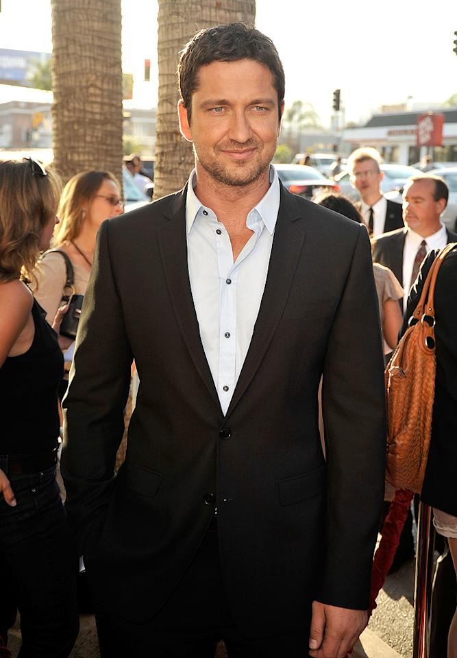 "<a href=""http://movies.yahoo.com/movie/contributor/1803248911"">Gerard Butler</a> at the Los Angeles premiere of <a href=""http://movies.yahoo.com/movie/1810021980/info"">The Ugly Truth</a> - 07/16/2009"