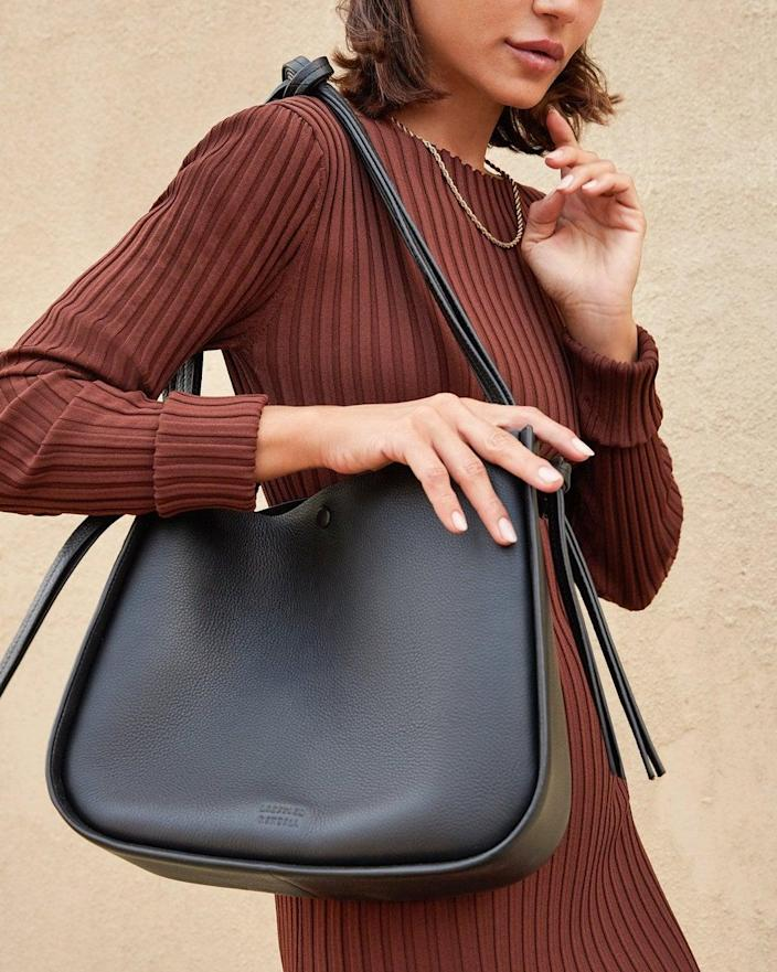 <p>You can fit so much in this chic <span>Loeffler Randall Marine Black Tote</span> ($395).</p>