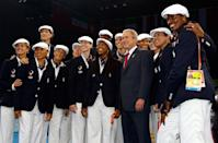 <p>In 2008, Ralph Lauren began designing Team USA's uniforms, marking a changeover in designers, though somehow the team managed to keep their newsboy caps ... Were they going to the Olympics or auditioning for <em>Newsies</em>?</p>
