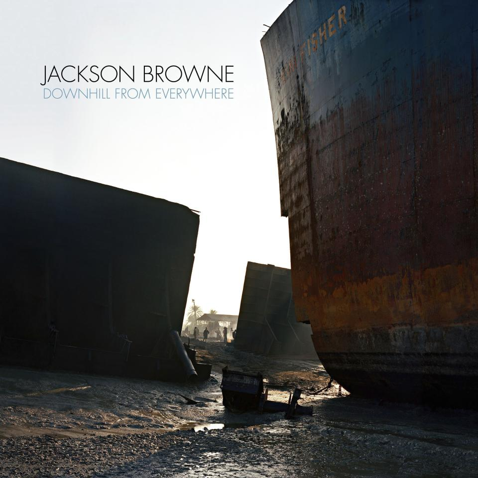 """This image released by Inside Records shows cover art for Jackson Browne's album """"Downhill From Everywhere,"""" available on Friday. (Inside Recording via AP)"""