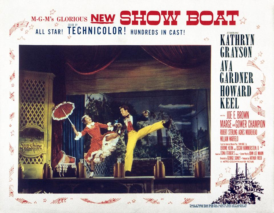Show Boat, lobbycard, with Marge Champion and Gower Champion (1951) - LMPC via Getty Images