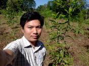 Dr Pyae Phyo Naing poses for a selfie at an unknown location in this undated handout image