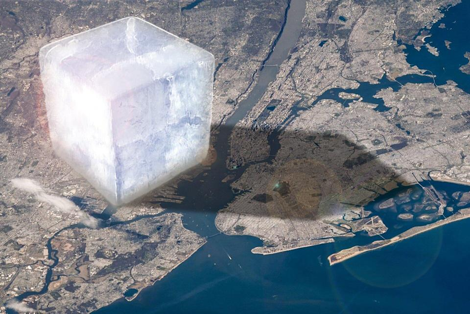 In perspective 1 trillion tonnes of ice pillars - ESA/Planetary Visions