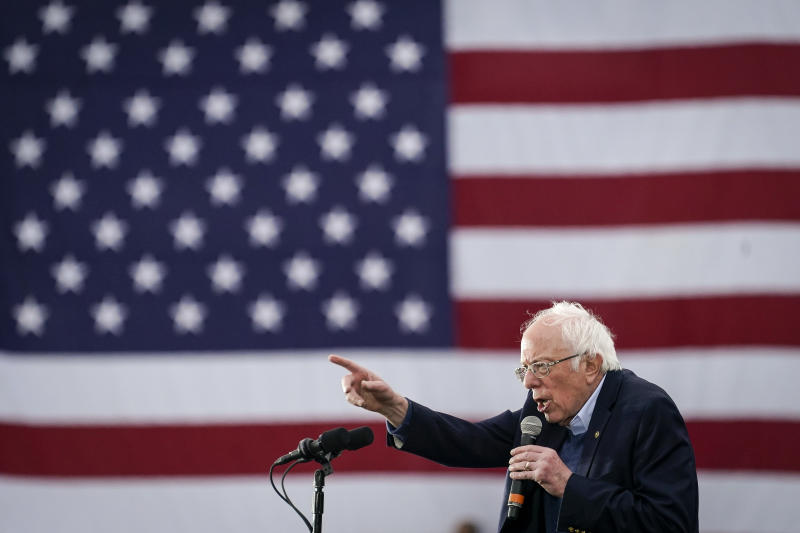 AUSTIN, TX - FEBRUARY 23: Democratic presidential candidate Sen. Bernie Sanders (I-VT) speaks during a campaign rally at Vic Mathias Shores Park on February 23, 2020 in Austin, Texas. With early voting underway in Texas, Sanders is holding four rallies in the delegate-rich state this weekend before traveling on to South Carolina. Texas holds their primary on Super Tuesday March 3rd, along with over a dozen other states. (Photo by Drew Angerer/Getty Images)