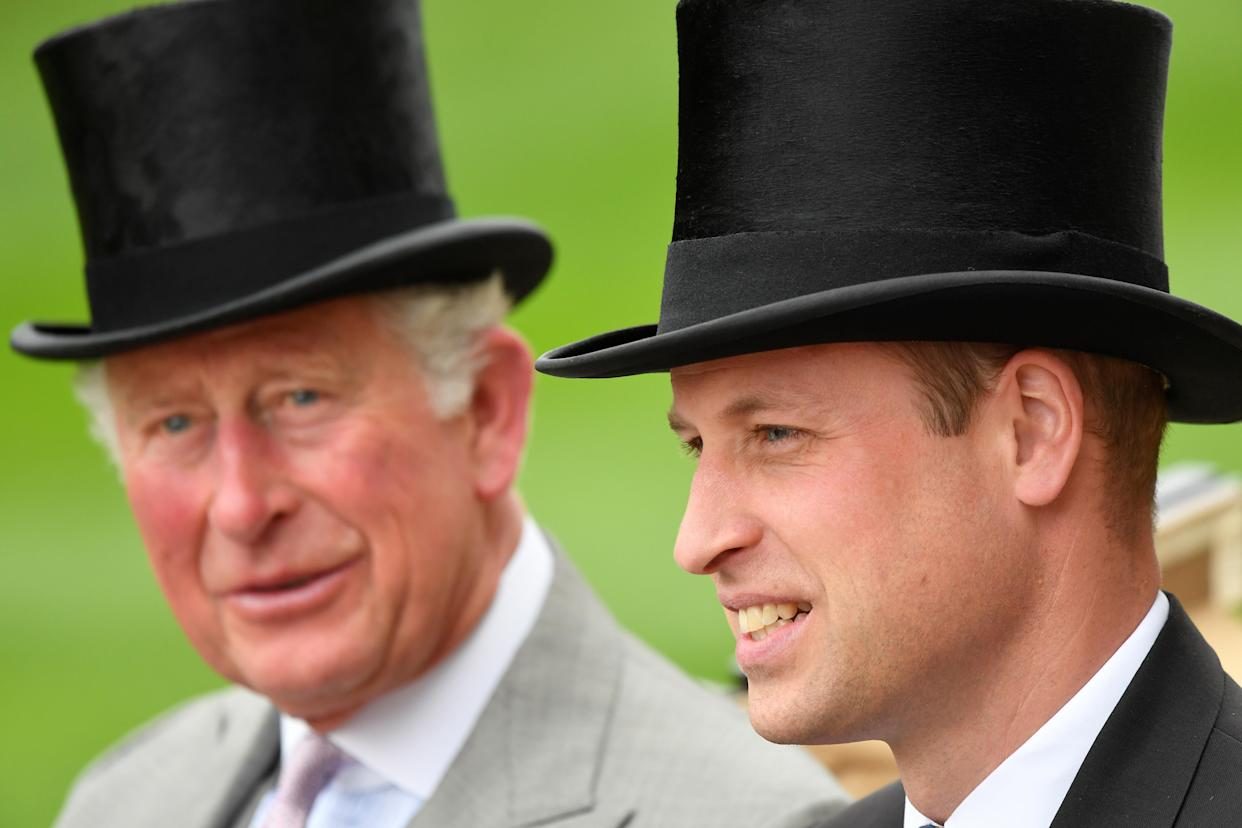 Horse Racing - Royal Ascot - Ascot Racecourse, Ascot, Britain - June 18, 2019   Britain's Prince William and Prince Charles arrive at Ascot   REUTERS/Toby Melville