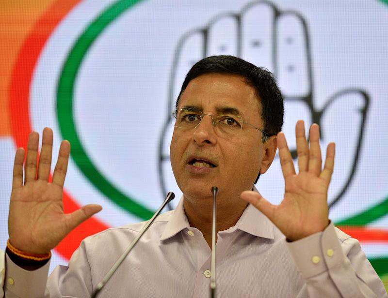 File image of Congress spokesperson Randeep Singh Surjewala. (Photo: Hindustan Times via Getty Images)