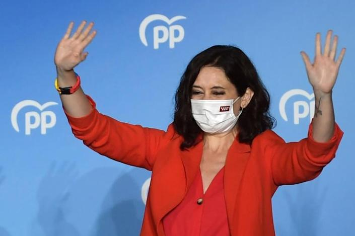 Isabel Diaz Ayuso is a rising star in Spain's right-wing Popular Party