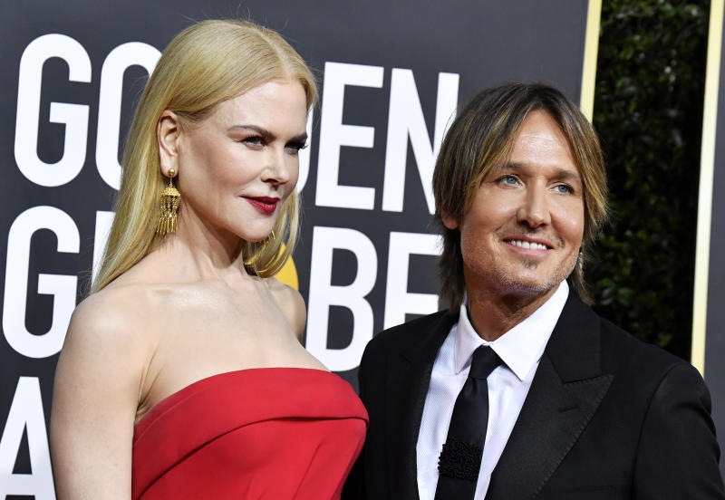 Nicole Kidman and Keith Urban attend the 77th Annual Golden Globe Awards at The Beverly Hilton Hotel on January 05, 2020 in Beverly Hills, California. (Photo by Frazer Harrison/Getty Images)