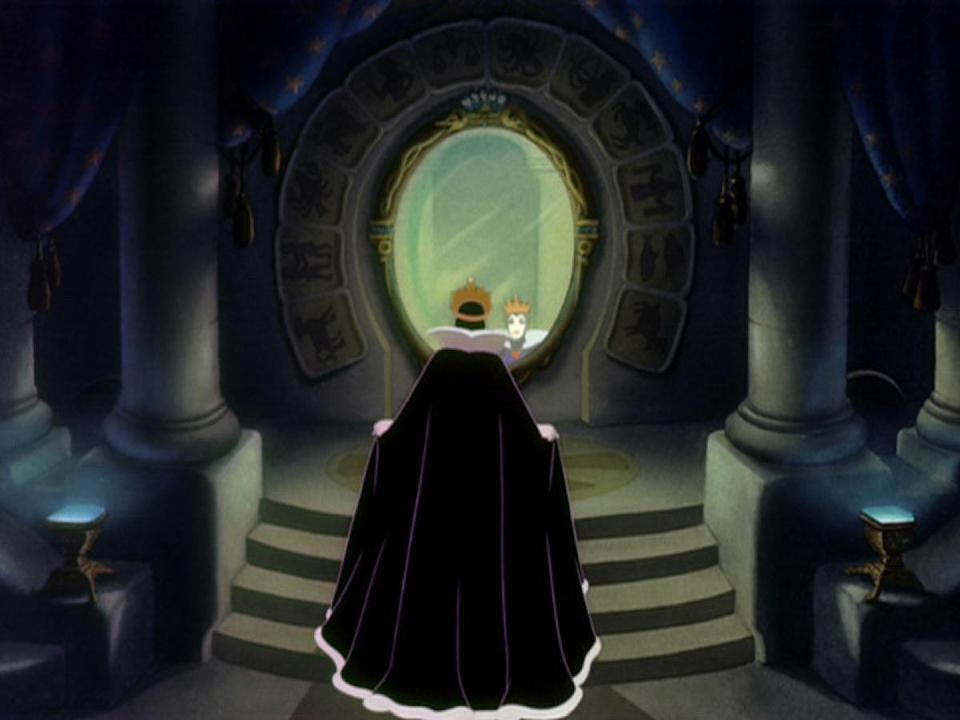 """Every kid who grew up watching the Disney classic <em>Snow White and the Seven Dwarfs</em> knows the creepy questions asked by the wicked Queen, Snow White's evil stepmother. Or at least we think we do. The real line is, """"Magic mirror on the wall, who is the fairest one of all?"""" Why have we all collectively decided to drop the adjective that explains the mirror's powers? Who knows?"""
