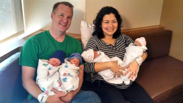 Ohio Sisters Deliver Twin Quadruplets
