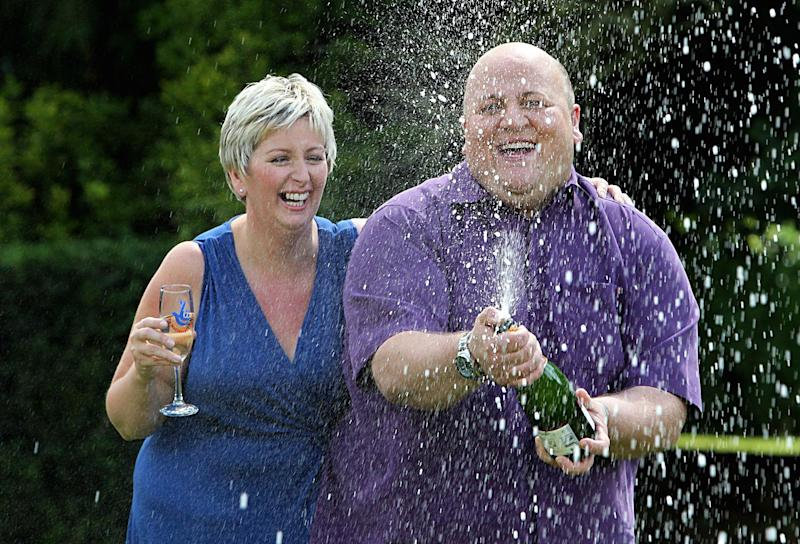 Adrian and Gillian Bayford after the £148 million win. (PA Archive/PA Images)