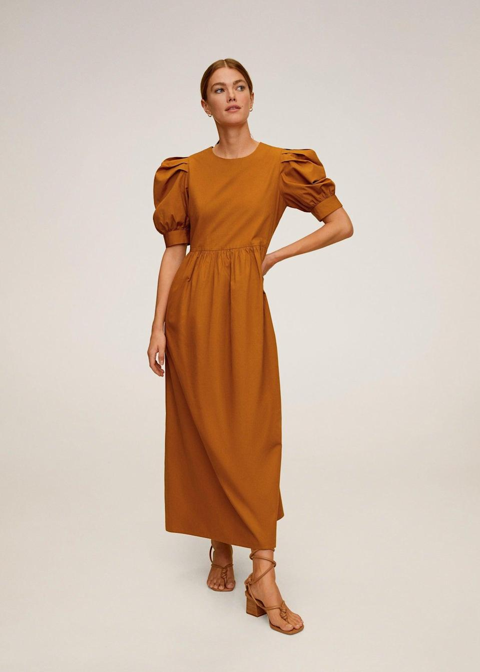 <p>You'll be sure to make an entrance in this <span>Puffed sleeves cotton dress</span> ($80).</p>