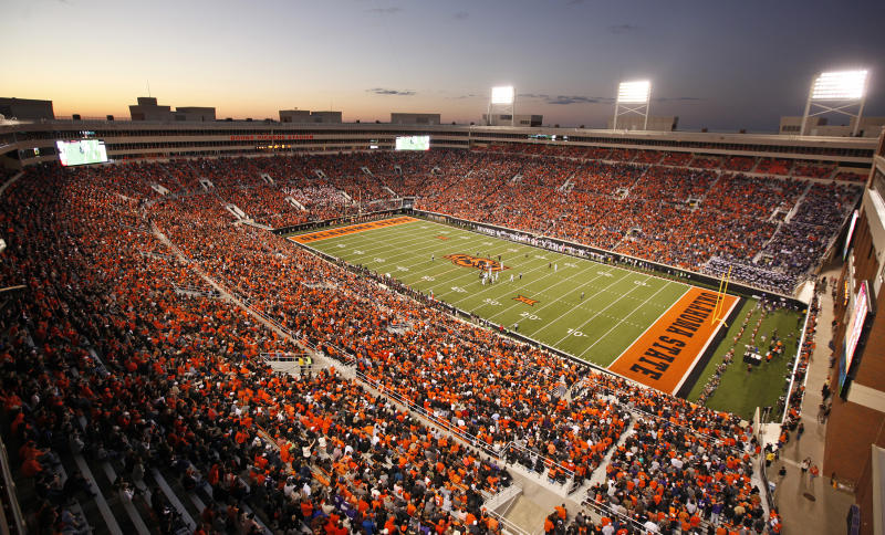 STILLWATER, OK - NOVEMBER 7 : A general view of the stadium during the game against the TCU Horned Frogs November 7, 2015 at Boone Pickens Stadium in Stillwater, Oklahoma. The Cowboys defeated the Horned Frogs 49-29. (Photo by Brett Deering/Getty Images)