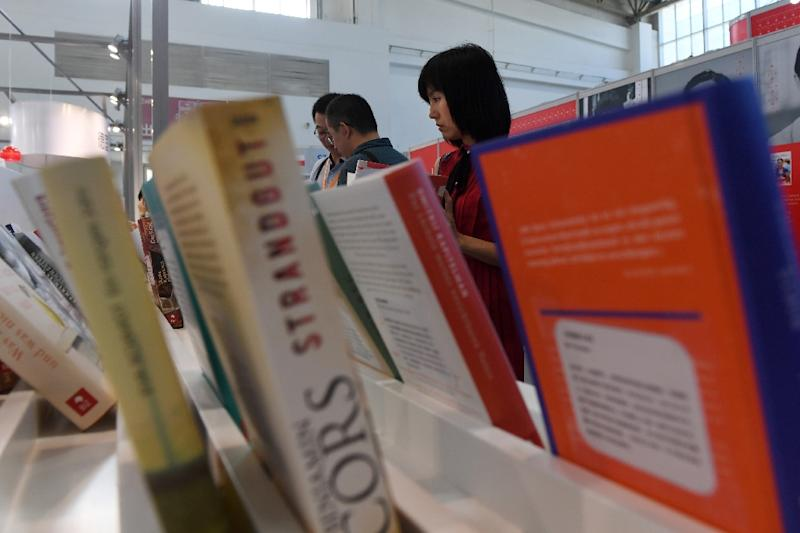 Some acknowledged that their companies have already resorted to self-censorship to ensure that their books do not offend and are published in China. (AFP Photo/Greg Baker)