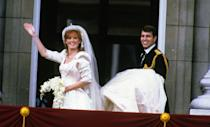 <p>Though it wasn't quite as legendary as Princess Diana's big day, Sarah Ferguson, the Duchess of York's marriage to Prince Andrew, Duke of York on July 23 became an iconic wedding moment of the '80s.</p>
