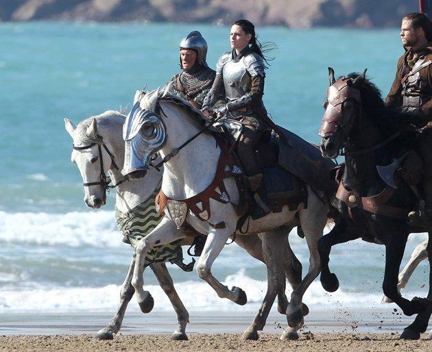 """Horse Play Kristen Stewart endured cliff jumping, fight training and cold, wet English countryside filming conditions for the role of Snow White, but all of that seemed like child's play compared with the more equine parts of the job. Stewart literally had to get back in the saddle again: """"I had to get back on a horse. I'd fallen off when I was nine, and I really hurt myself. Not that that was such a traumatizing experience, it just changed the dynamic completely.  And Snow White just rides her butt off in this movie. I knew that I didn't want to fake it, and I was terrified. It was that last hurdle I had to jump over."""""""