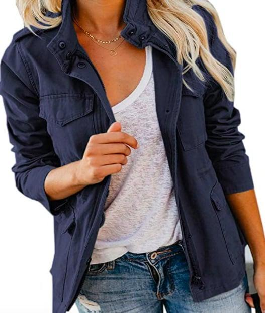 <p>This <span>Anorak Snap Button Jacket</span> ($39) is the perfect piece.</p>