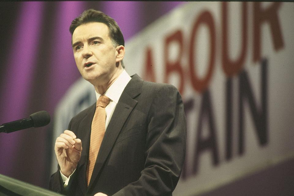 Minister for trade and industry Peter Mandelson at the 1998 Labour Party conference.