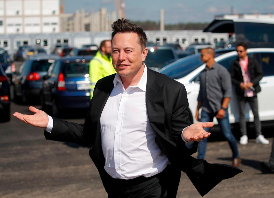 Elon Musk warns staff stock price could get 'crushed like a souffle under a sledgehammer' (AFP via Getty Images)