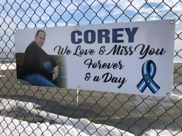 Karen Delaney made the annual visit to the site of the Cougar hangar in St. John's to pay respect to her nephew, Corey Eddy who, was among those killed in the crash 12 years ago.