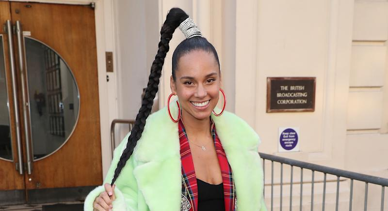 """Alicia Keys has revealed how she limits the number of toys she buys her children to teach them the """"value of money and gratitude"""" [Image: Getty]"""