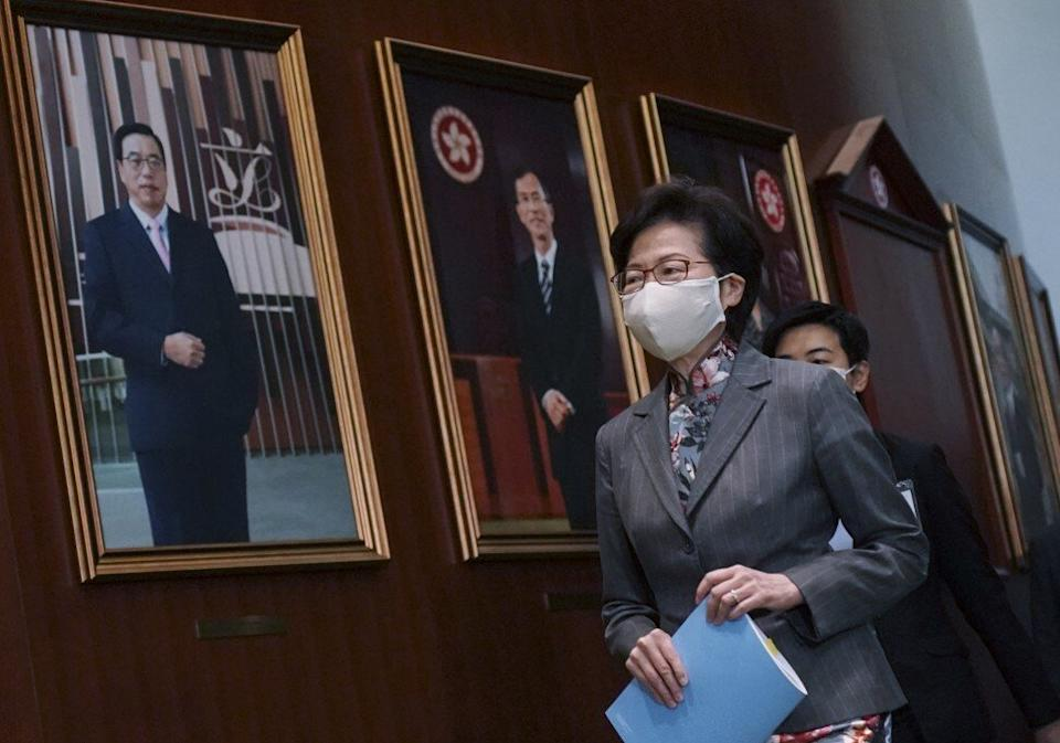 Chief Executive Carrie Lam Cheng Yuet-ngor pledged Hong Kong would be carbon neutral within three decades as part of her policy address. Photo: Felix Wong