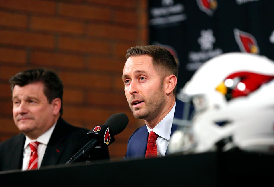 Cardinals head coach Kliff Kingsbury spoke highly of Kyler Murray before the Oklahoma QB even declared for the NFL draft. (AP)