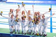 """<p>Ashleigh Johnson: """"I'm so proud of how we performed for each other today and for the people that we represent. I hope everyone was watching and I hope they find something in our performance today, because we gave everything that we had.""""</p>"""