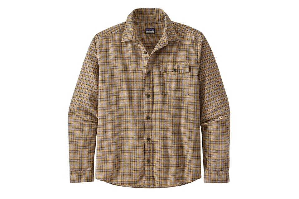 """$79, Patagonia. <a href=""""https://www.patagonia.com/product/mens-long-sleeved-lightweight-fjord-flannel-shirt/54020.html?dwvar_54020_color=SPMY&cgid=web-specials-mens"""" rel=""""nofollow noopener"""" target=""""_blank"""" data-ylk=""""slk:Get it now!"""" class=""""link rapid-noclick-resp"""">Get it now!</a>"""
