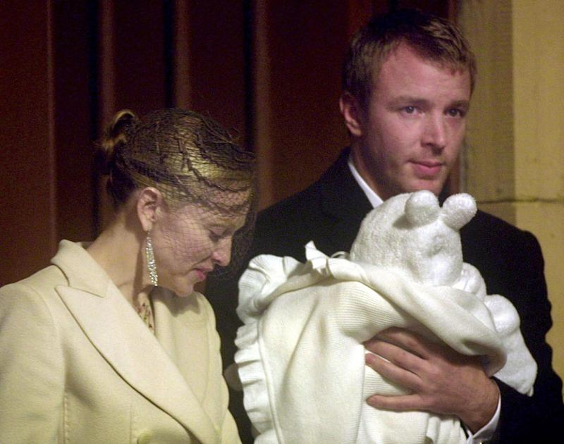 Parents: Madonna and Guy Ritchie with Rocco back in 2000 (Adrian Dennis/AFP/Getty Images)