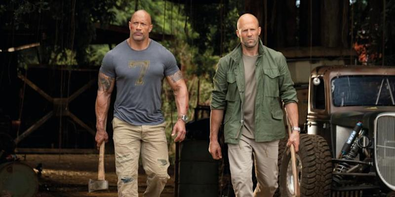 Johnson and Statham in Hobbs & Shaw (Credit: Universal)