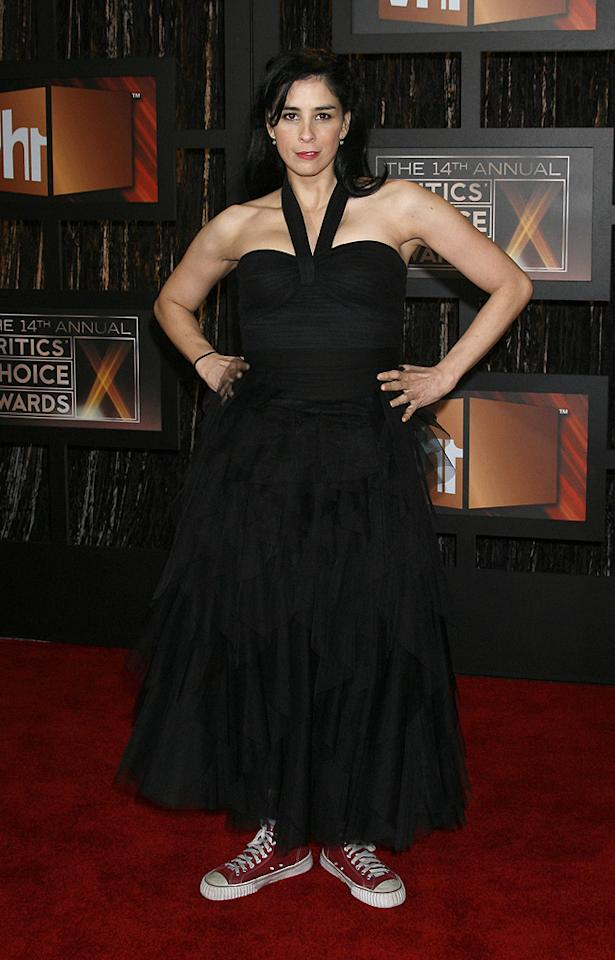"<a href=""http://movies.yahoo.com/movie/contributor/1800359449"">Sarah Silverman</a> at the 14th Annual Critics' Choice Awards in Santa Monica - 01/08/2009"