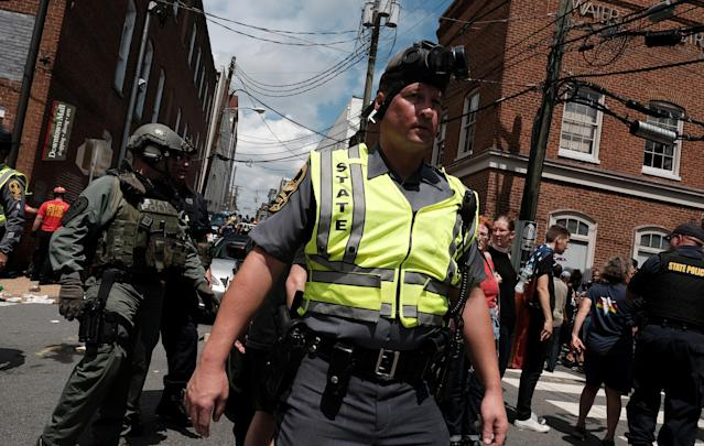 "<p>Police respond after a car drove through a group of counter protesters at the ""Unite the Right"" rally Charlottesville, Va., Aug. 12, 2017. (Photo: Justin Ide/Reuters) </p>"