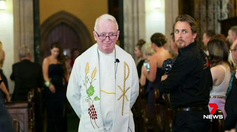 Father Neville served at Mary Immaculate at Bossley Park before retiring from his duties a decade ago. Source: 7 News