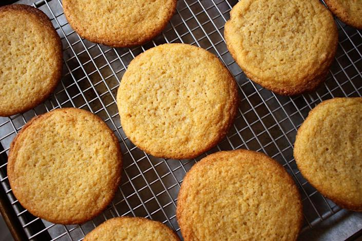 """<p>Have you had a corn cookie before? If not—get to the kitchen pronto. These are incredible.</p><p>Get the recipe from <a href=""""https://www.delish.com/cooking/recipe-ideas/a32906712/corn-cookies-recipe/"""" rel=""""nofollow noopener"""" target=""""_blank"""" data-ylk=""""slk:Delish"""" class=""""link rapid-noclick-resp"""">Delish</a>.</p>"""