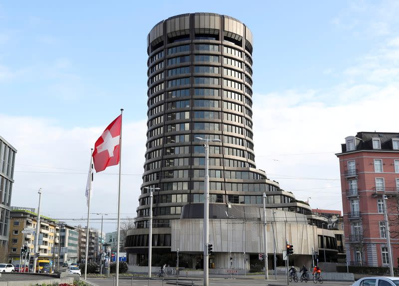 FILE PHOTO: The tower of the Bank for International Settlements is seen in Basel