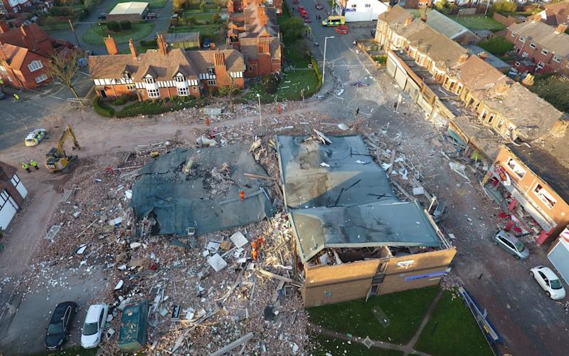 The scene on Merseyside following last night['s gas explosion - Credit: Pigs Can Fly/SWNS