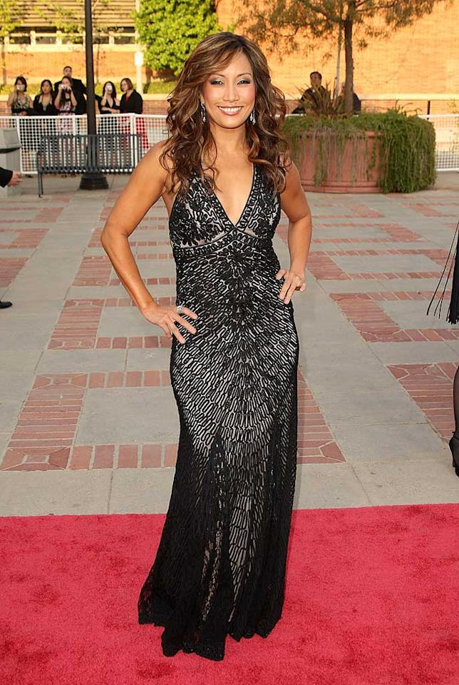 """Dancing With the Stars"" judge Carrie Ann Inaba arrives at the 2008 Asian Excellence Awards in a sparkling Sue Wong dress. The event will air May 1, 2008 on E! Entertainment at 6pm. Jason Merritt/<a href=""http://www.filmmagic.com/"" target=""new"">FilmMagic.com</a> - April 23, 2008"