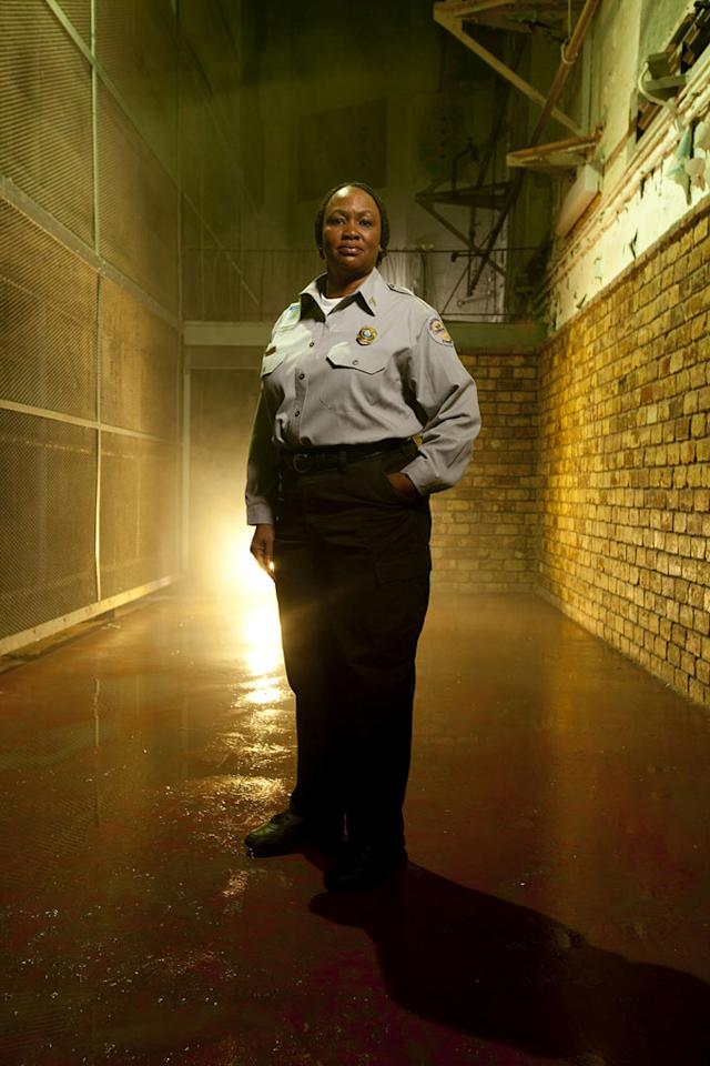 "Sergeant Valerie Hampton in ""The Squad: Prison Police."""