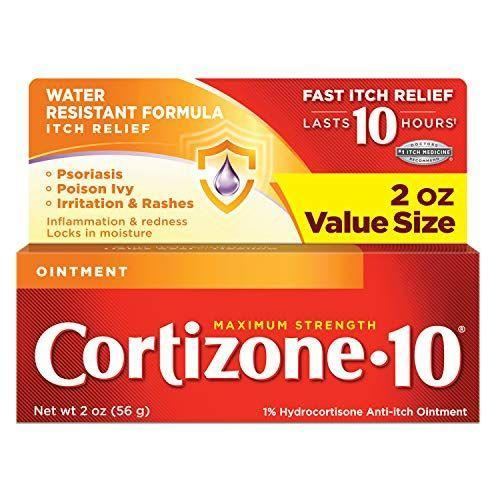 """<p><strong>Cortizone 10</strong></p><p>amazon.com</p><p><strong>$7.28</strong></p><p><a href=""""https://www.amazon.com/dp/B001KY7LAM?tag=syn-yahoo-20&ascsubtag=%5Bartid%7C2140.g.36743167%5Bsrc%7Cyahoo-us"""" rel=""""nofollow noopener"""" target=""""_blank"""" data-ylk=""""slk:Shop Now"""" class=""""link rapid-noclick-resp"""">Shop Now</a></p><p>This is a good anti-itch cream to keep on hand in your medicine cabinet. """"For mosquito bites or mild cases of poison ivy, the product I recommend most often is hydrocortisone formulated as a single active ingredient, which can be found in this ointment,"""" Dr. Katta says.</p>"""