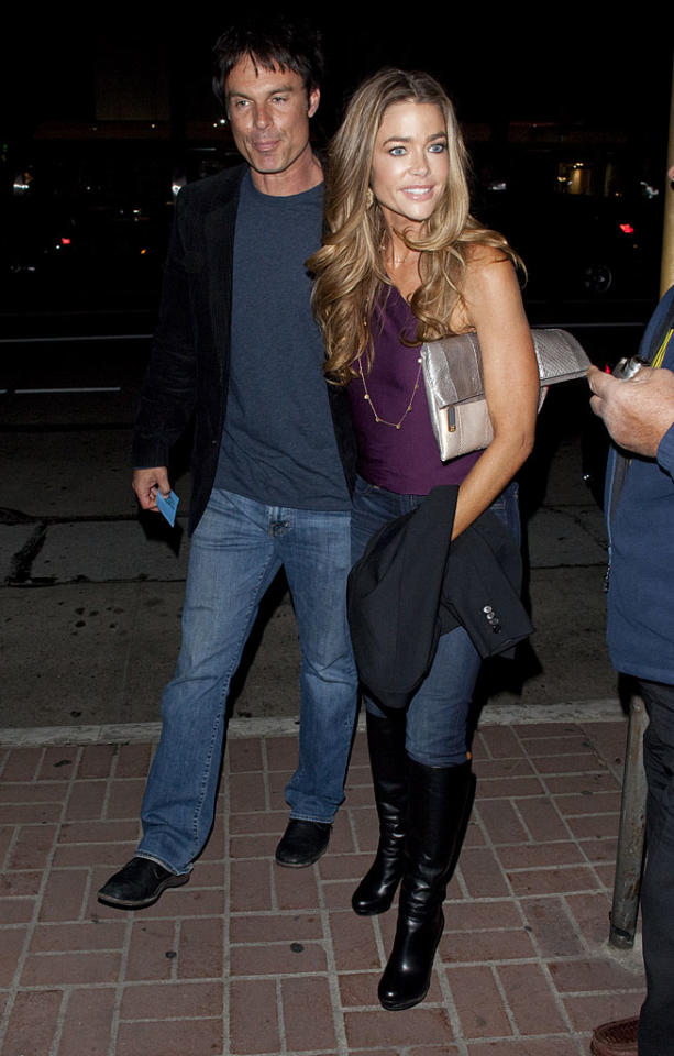 """It's been nearly a dozen years since Denise Richards and """"Days of Our Lives"""" actor Patrick Muldoon dated, but are they rekindling their romance in 2012? Maybe. The two arrived arm in arm at Italian eatery Madeo in Beverly Hills on Monday night. (1/9/2012)"""