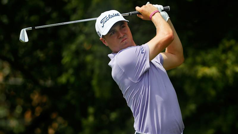 Thomas surges to share lead with Casey, Simpson