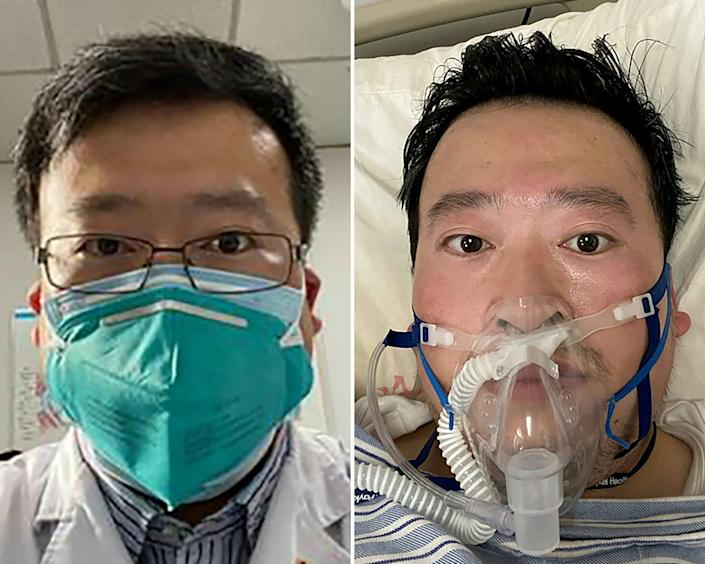 Dr. Li Wenliang, the COVID-19 whistleblower whose warnings were suppressed by police. His death was confirmed Feb. 7, 2020, at the Wuhan Central Hospital, China.