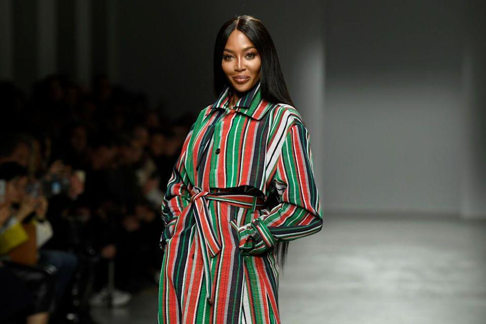 <p>After thirty years in the modeling industry, Campbell can walk the runway just as confidently as she did back in her teenage years. </p>