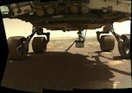 Ingenuity is now alone on the surface of Mars after detaching from the belly of the Perseverance rover