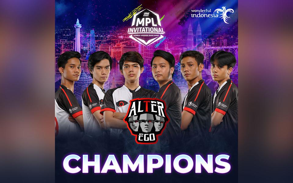 Alter Ego win ONE Esports MPL Invitational (Image: Mobile Legends Facebook Page).