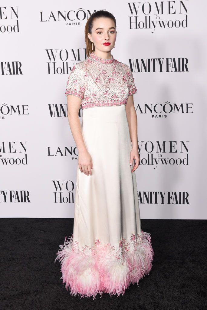 <p>Booksmart star Kaitlyn Dever wore a 1960s Christian Dior Couture gown from Shrimpton Couture to the event in Hollywood.</p>